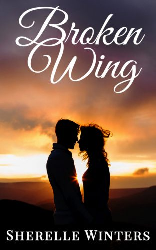 Cover image for the book Broken Wing.  Cover features a woman with a butterfly on her hand